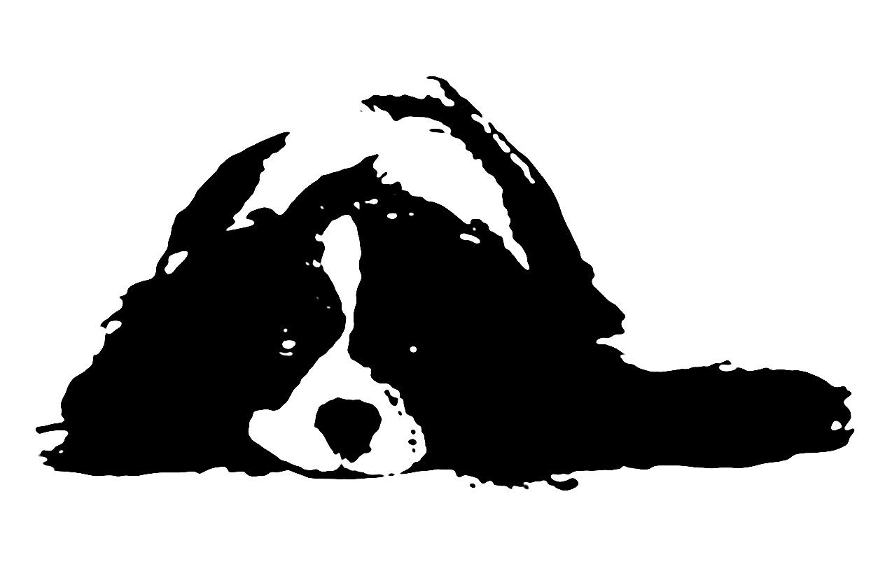 Hund als Folienschnitt
