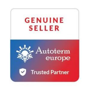 Logo Grafik mit Schrift offizieller Autoterm Partner genuine seller